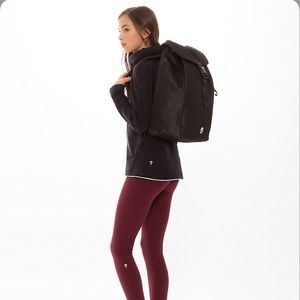 Where To Next Backpack Black Glitter OS